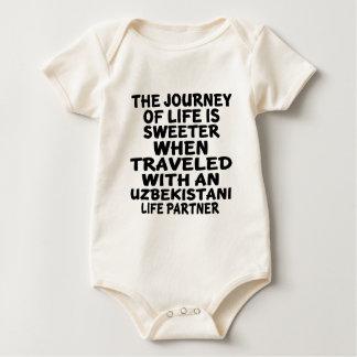 Traveled With An Uzbekistani Life Partner Baby Bodysuit