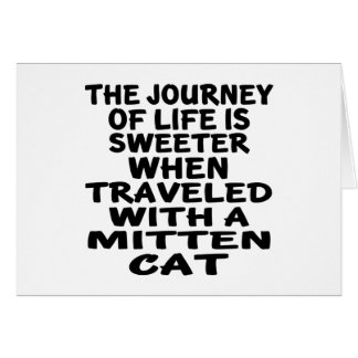 Traveled With Mitten Cat Card