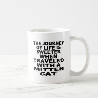 Traveled With Mitten Cat Coffee Mug