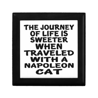 Traveled With Napoleon Cat Gift Box