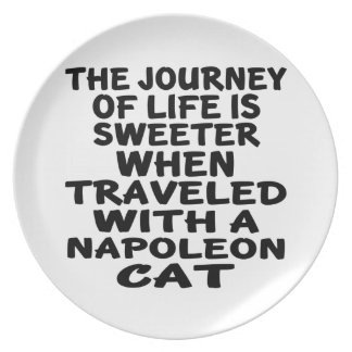 Traveled With Napoleon Cat Plate