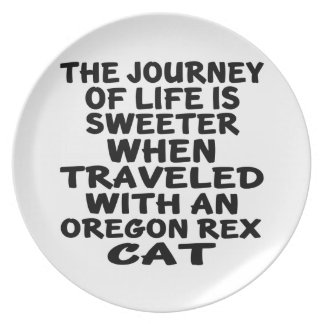 Traveled With Oregon Rex Cat Plate