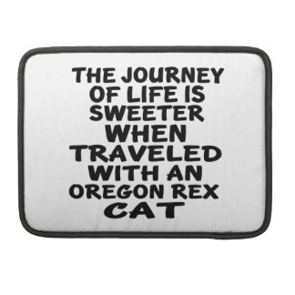 Traveled With Oregon Rex Cat Sleeve For MacBook Pro