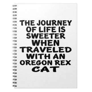 Traveled With Oregon Rex Cat Spiral Notebook