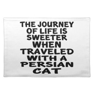 Traveled With Persian Cat Placemat