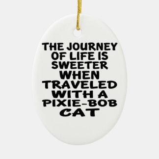 Traveled With Pixie-Bob Cat Ceramic Ornament