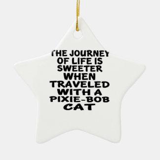 Traveled With Pixie-Bob Cat Ceramic Star Decoration