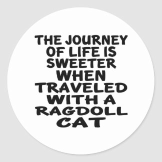 Traveled With Ragdoll Cat Classic Round Sticker