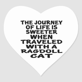Traveled With Ragdoll Cat Heart Sticker
