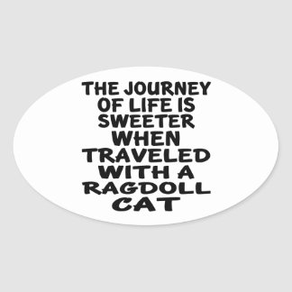 Traveled With Ragdoll Cat Oval Sticker