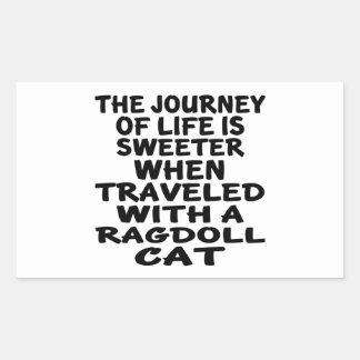Traveled With Ragdoll Cat Rectangular Sticker