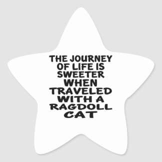 Traveled With Ragdoll Cat Star Sticker
