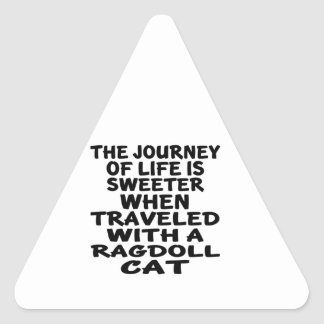 Traveled With Ragdoll Cat Triangle Sticker
