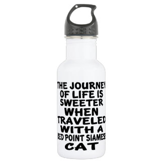 Traveled With Red point siamese Cat 532 Ml Water Bottle
