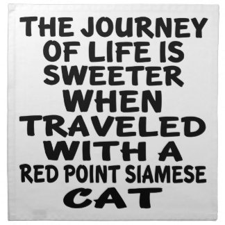 Traveled With Red point siamese Cat Napkin