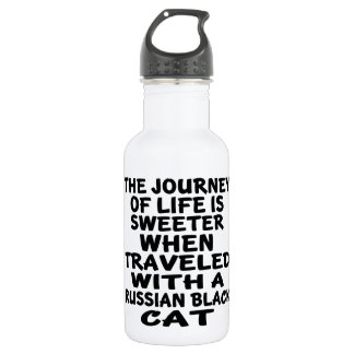 Traveled With Russian Black Cat 532 Ml Water Bottle