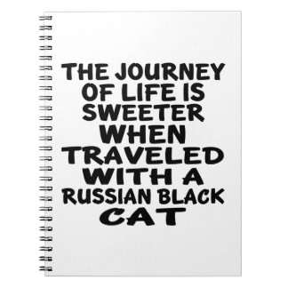 Traveled With Russian Black Cat Notebooks