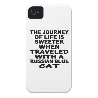 Traveled With Russian Blue Cat iPhone 4 Case-Mate Cases