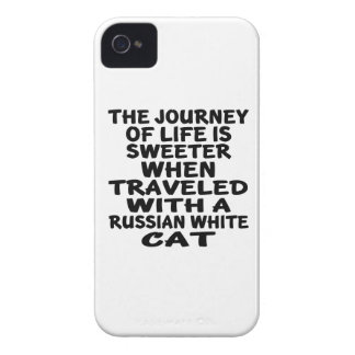 Traveled With Russian White Cat iPhone 4 Case-Mate Cases