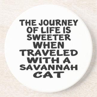 Traveled With Savannah Cat Coaster