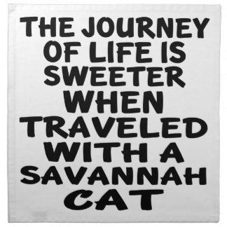 Traveled With Savannah Cat Napkin