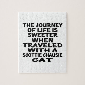 Traveled With Scottie chausie Cat Jigsaw Puzzle