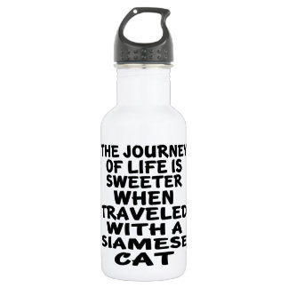 Traveled With Siamese Cat 532 Ml Water Bottle