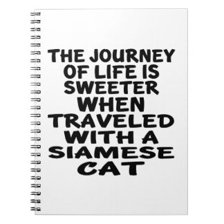 Traveled With Siamese Cat Notebook