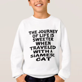 Traveled With Siamese Cat Sweatshirt