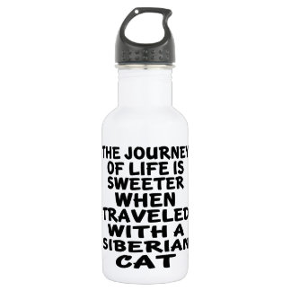 Traveled With Siberian Cat 532 Ml Water Bottle