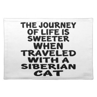 Traveled With Siberian Cat Placemat