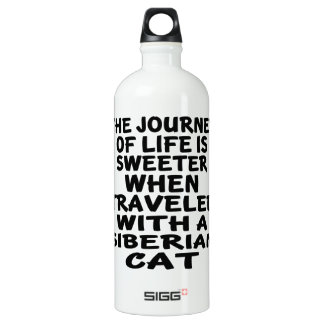 Traveled With Siberian Cat Water Bottle