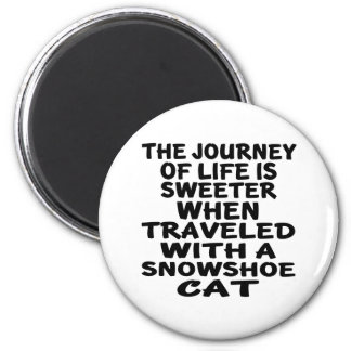 Traveled With Snowshoe Cat Magnet