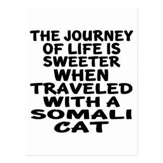 Traveled With Somali Cat Postcard