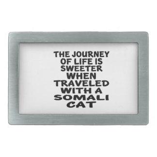 Traveled With Somali Cat Rectangular Belt Buckle