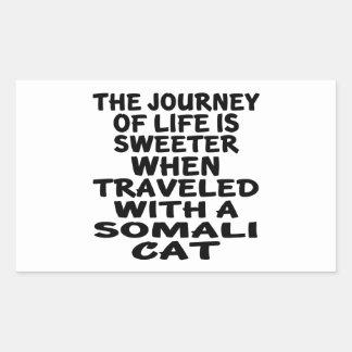 Traveled With Somali Cat Rectangular Sticker