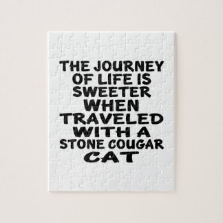 Traveled With Stone cougar Cat Jigsaw Puzzle