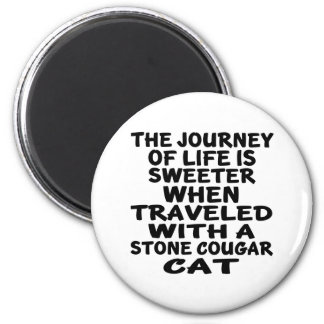 Traveled With Stone cougar Cat Magnet