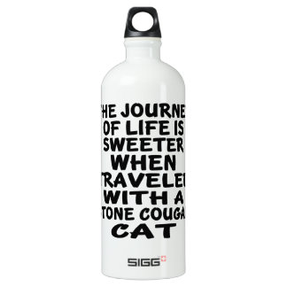 Traveled With Stone cougar Cat Water Bottle