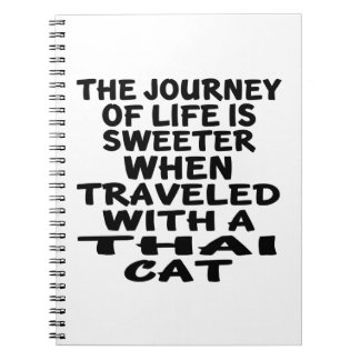 Traveled With Thai Cat Notebooks