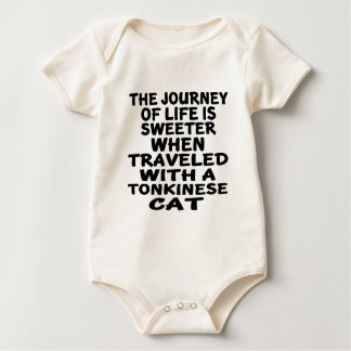 Traveled With Tonkinese Cat Baby Bodysuit