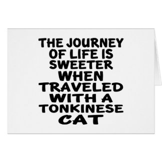 Traveled With Tonkinese Cat Card