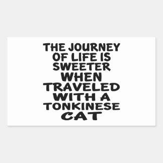 Traveled With Tonkinese Cat Rectangular Sticker