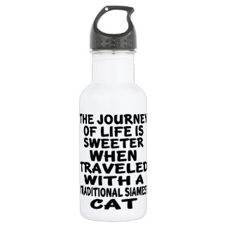 Traveled With Traditional Siamese Cat 532 Ml Water Bottle