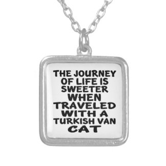 Traveled With Turkish Van Cat Silver Plated Necklace