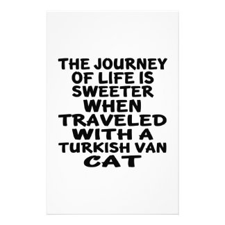 Traveled With Turkish Van Cat Stationery