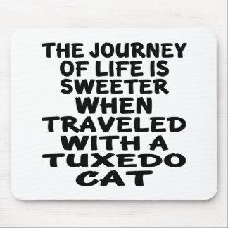 Traveled With Tuxedo Cat Mouse Pad