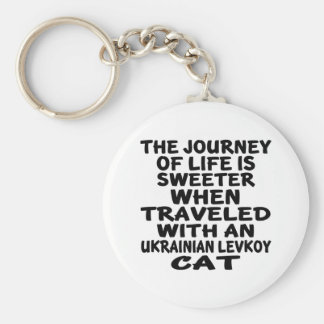 Traveled With Ukrainian Levkoy Cat Key Ring