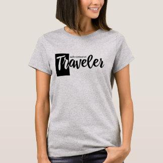 Traveler adventurer modern short sleeved t-shirt