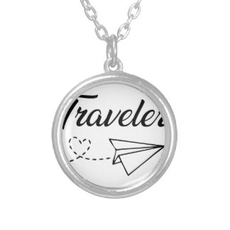 Traveler Silver Plated Necklace